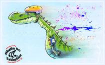 Skate Dino by Siddhartha Ahearne