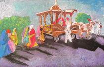 Hindu procession in rural India von Elena Malec