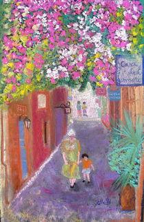 street scene in Crete, Greece by Elena Malec