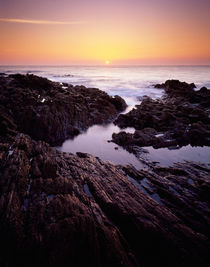 Sunset at Westward Ho!, Devon, England. by Craig Joiner