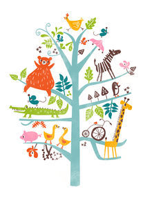 animals in tree von Joanne Liu