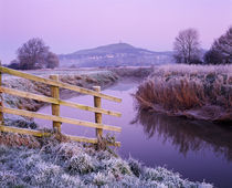 River Brue at Glastonbury, Somerset, England.
