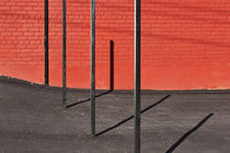 Vertical Posts and Shadows by Robert Englebright