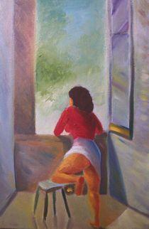 femme à la fenetre  von NourYas Arts