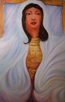 femme en blanc von NourYas Arts