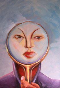 femme au mirroir von NourYas Arts