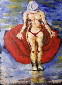 femme nue à la tete couverte by NourYas Arts