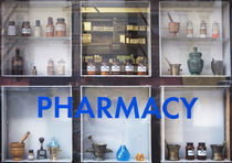 Pharmacy Display Window in New York City by Robert Englebright