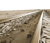 desert railway tracks by james smit