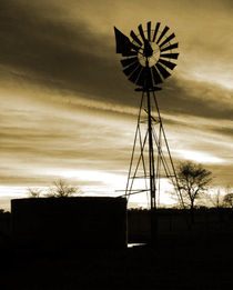 silhouette windmill by james smit