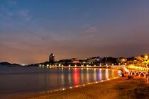 Qingdao seashore at night by Alexander Radosnov