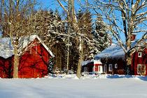 Mein schwedisches Dorf im Winter von tinadefortunata