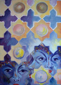 Arabesque faces von NourYas Arts