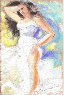 Femme brune  von NourYas Arts