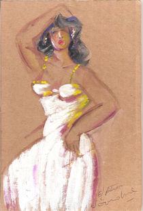 Femme danseuse en robe von NourYas Arts