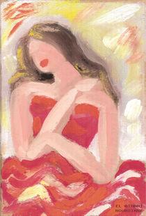 Femme en rouge von NourYas Arts