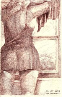 Femme dans la chambre von NourYas Arts