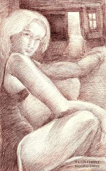 femme au regard by NourYas Arts