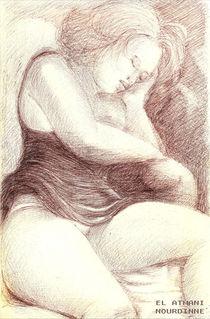 Femme endormie 2 von NourYas Arts