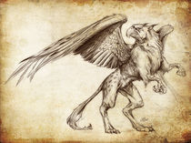 Fantasy Sketch - Gryphon by Christian Damm