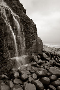 Waterfall on Cornborough Cliff, Devon by Craig Joiner