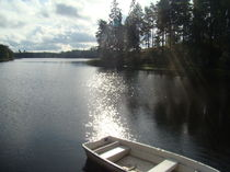 old boat on lake von rickyss