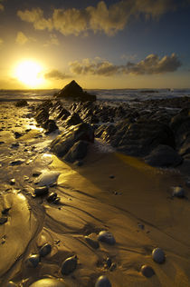Sunset at Sandymouth Beach, Cornwall von Craig Joiner