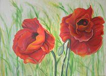 Dekoratives Blumenbild Flora Mohnblume von Silvana Czech