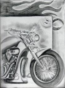 Motorrad Kohlezeichnung Chromwelten by Czech von Silvana Czech