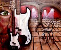 Sweet Retreat E-Bass Gemälde von Silvana Czech von Silvana Czech