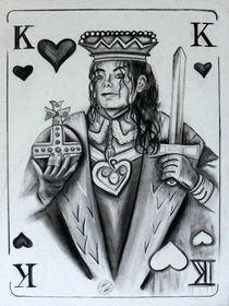 King of Pop  Michael Jackson Kohlezeichnung by Silvana Czech