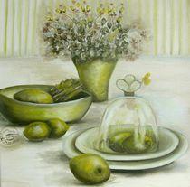 Harmonie der Limone Ölgemälde Stillleben  von Silvana Czech