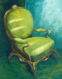 grüner Stuhl by Renate Berghaus
