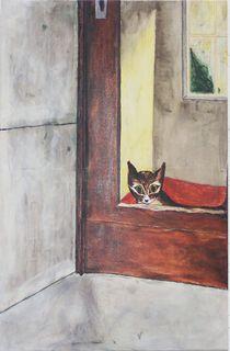 Katze im Haus by Marion Harrichhausen-Lukas