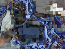 Blaue Frau von Peter Reif