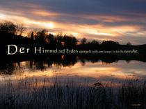 Der Himmel spiegelt sich in der SEElenruhe by Gerhard Bär