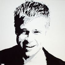 Brad Pitt by A 3400 Acrylbilder Günther Roth