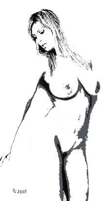 White Lady von A 3400 Acrylbilder Günther Roth