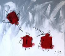 Rote Krähen III von Claudia Färber