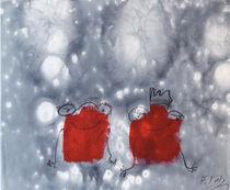 Rote Frösche von Claudia Färber