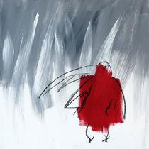 Rote Krähe von Claudia Färber