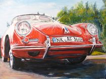 alter Porsche 356 von Helga Anders-Faber