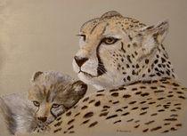 Gepard mit Baby by RAINER PFANNKUCH