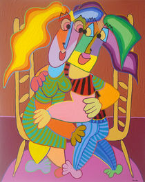 Gemälde Verliebte Stuhlentanz - Painting Lovers chair dance by Twan de Vos