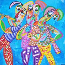 Gemälde Brassband - Painting Brass band von Twan de Vos