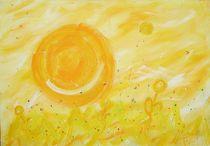 Sonnenaufgang im Morgentau von Kristin König-Salbreiter