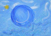 Tauche meine Welt in Himmelblau von Kristin König-Salbreiter