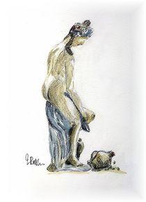 Akt Badende  by Eleonore Rottler