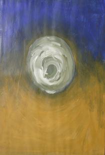 blau-ocker Kreis von Anke Platow