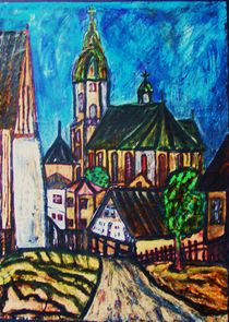 Blick zur Annenkirche, Annaberg von Michael Thomas Sachs